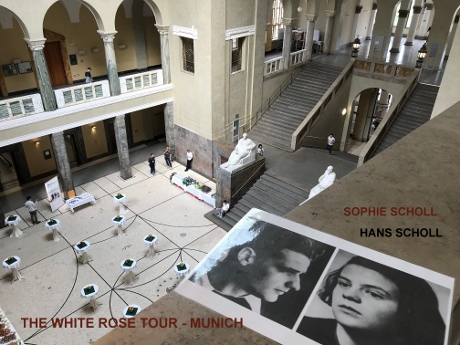 Sophie Scholl, Hans Scholl, White Rose, Christoph Probbs, 3rd Reich Tours Munich, Third Reich Tours In Munich, Munich Tours, WW2 Tours Germany, Munich History Tours, Beer Hall Putsch, Feldhernhalle, Fuhrerbau, Maximilain University, Gestapo, Wittelsbach Palace, Konigsplatz, Ludwigsbrucke, Ludwigstrasse, Munchen Tours, War Tours Munich, Hofbrauhaus, Burgerbraukellar, Lowenbraukellar, Isator, Ernst Rohm, King Ludwig,