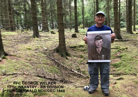 Hurtgen Forest Tours, Hurtgenwald Guided Tours, WW2 Tours Germany, Third Reich Tours, Private Battlefield Tours Europe, Vossenack, Germeter, 28th Infantry Division, 4th Infantry Division, 121st Infantry Division, PFC George Welker