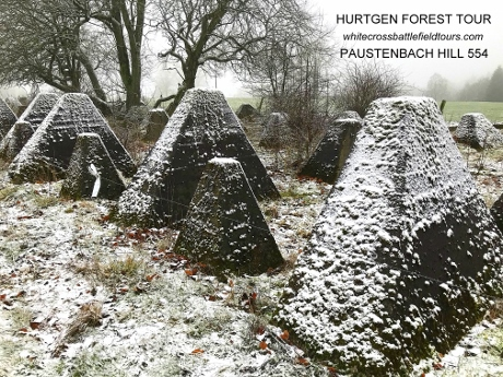 Hurtgen Forest Guided WW2 Tours, Hurtgenwald Tours, Siegfried Line, Paustenbach Hill 554, Westwall, Dragons Teeth, WW2 Battlefield Tours
